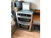 Oven, gas hob and extractor fan