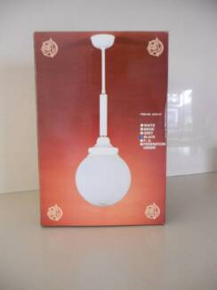 8 CREAM/BEIGE ORB LIGHT FITTINGS - NEW IN BOX - BULK BUY Mount Lewis Bankstown Area Preview