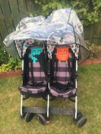 strollers cosatto supa dupa twin stroller double buggy pram cuddle monster very good condition
