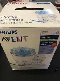 Philips avent steriliser and bottles