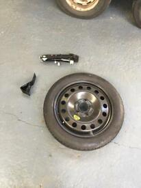 "Bmw e46 17"" space saver spare wheel and jack"