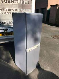 silver half and half fridge freezer £125 6 months warranty