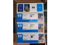 HP C4191A/2A/3A/4A Laserjet toner cartridges (BLK,YLW/CYAN/MGNTA)