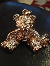 Dimonte gold bear necklace chain
