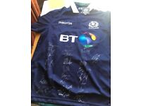 SIGNED Scotland Rugby Home Shirt brand-new