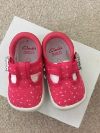 Baby girl shoes from Clarks size 2G