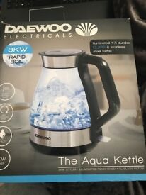THE AQUA KETTLE. 3KW STYLISH ILLUMINATED TOUGHENED 1.7L GLASS KETTLE