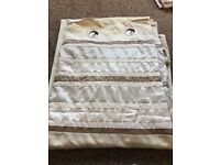 Fully lined Next Eyelet curtains with 2 matching cushion cases