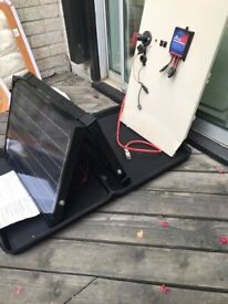 solar panel portable kit for a camper van leisure battery by Sunshine