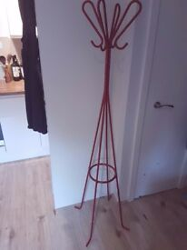 HABITAT Hat Coat Umbrella Stand - Dark Red - Metal Powder Coated