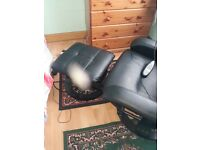For Sale massage chair and foot stool hardly used good working order
