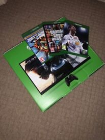 Xbox One 500 GB w/ 3 games & 2 controllers.