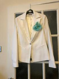 MK One white blazer size 10