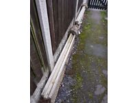 2 x unwanted concrete fence posts - FREE!