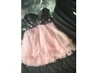 Pink and Black forever unique prom dress worn once (has been dry cleaned since)