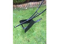 ANTIQUE CAST IRON RANSOMES, HORSE-DRAWN RIDGING PLOUGH GARDEN ORNAMENT