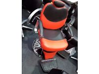 "Hairdressing Red/Black or Black Barber Chair Reclining Hydraulic ""Slimline""£195 , Delivery Available"