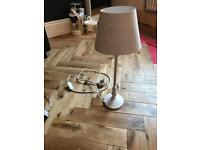 Rustic Cream Heart Lamp