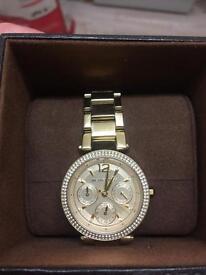 Brand new women's gold MK watch