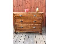 Vintage large wooden chest of drawers, bargain free delivery