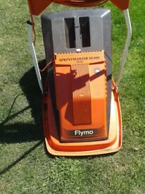 flymo electric hover mower with grassbox