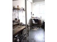 ART STUDIO WORKSHOP FOR SHARE IN DALSTON LANE, HACKNEY, £246 PER MONTH