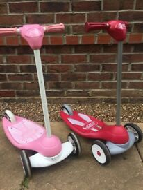Radio Flyer Scooters Pink and Red