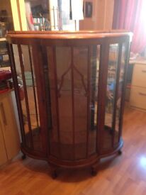 China cabinet lovely wood cabinet with glass shelves