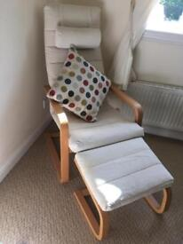 Ikea Chair with Footstool - SOLD (awaiting collection)