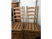 Ercol vintage 1970s Ladder back dining chairs x 2
