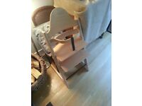 "Scandinavian kids high chair and life chair, make is ""Tripp Trapp"""