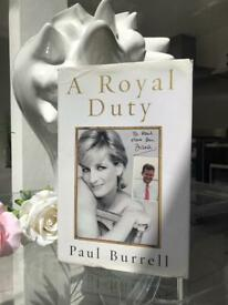 A Royal Duty Princess Diana Book by Paul Burrel