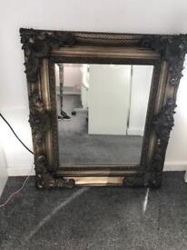 Gold / bronze heavy mirror