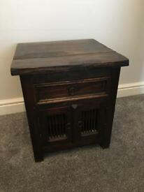 Vintage Style Mahogany Bedside Table