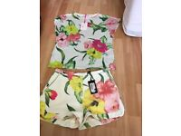 Ted Baker flowers at high tea shorts and top
