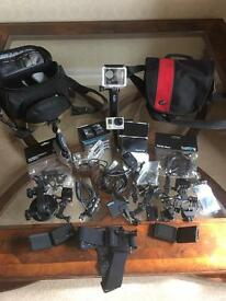 GoPro Hero3 Black edition plus many accessories