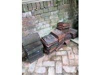 Roof tiles - mix of red tiles for period roofs. Leftover from recent job.
