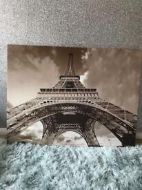 Large Eiffel Tower canvas Frame