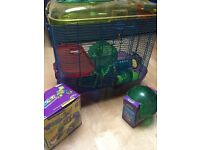 Hamster cages and assessories