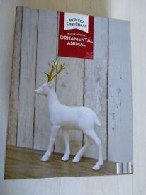 Ornamental animal. Christmas decoration.