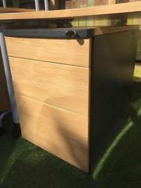 Work table and lockable drawers with printer stand - will sell separately