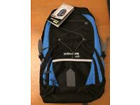 Blue and Black Yellowstone 30 Litre Orbit Backpack. Brand New in Packaging.