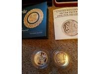 Rare silver proof coin set 1983/2016