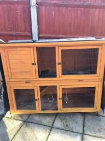 Large rabbit hutch and cover