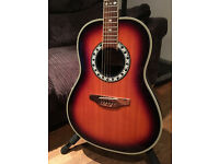 Westfield Acoustic Guitar, round back SR380D (Ovation copy) electro-acoustic with gig bag