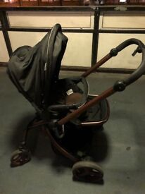 Hauck twister travel system CHOCOLATE