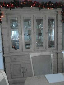 solid wood dining suite