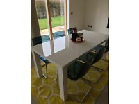 White High Gloss Dinning Table
