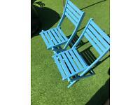 Folding garden chairs x 2