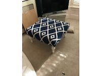 Padded ottoman or coffee table / Stool
